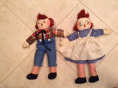 Antique Raggedy Ann and Andy Dolls