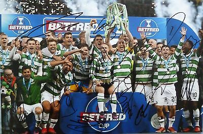 Celtic FC Signed Scottish Cup Winners Photo x13 - Celtic Park, Griffiths, Brown