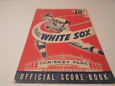 1950 Chicago White Sox Official Score Book Ny Yankees Chicago White Sox