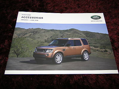 Land Rover Discovery Accessories Brochure - Jan to June 2016