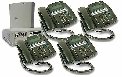 New Telephone System Switchboard Pbx Complete Plug And Play 408 + 4 Desk Phones