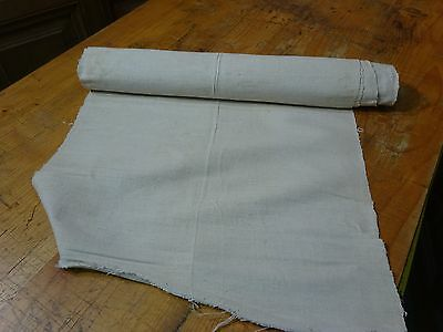 A Homespun Linen Hemp/Flax Yardage 5 Yards x 18.5''' Plain  # 8330