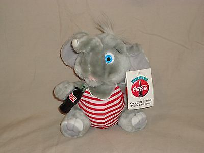 "Coca Cola Brand Plush Collection Life Saver Elephant 8"" Plush Doll With Tags"