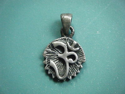 Vintage 925 Silver Pendant With 'om' Sign