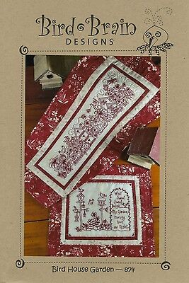 BIRD HOUSE GARDEN HAND EMBROIDERY PATTERN, From Bird Brain Designs NEW