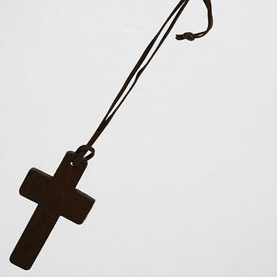 Chains Ancient Brown Christian Leather Gift Jewelry Cross Pendant Necklace