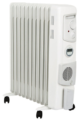 Column Heater Timer Electric Dimplex Radiator Fin Heating Eco Thermostat 2400W