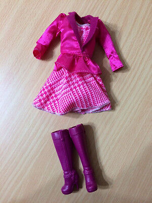 Barbie Doll Horse Pony Ride Western Equestrian Outfit Pink Dress Boot Cloth Lot