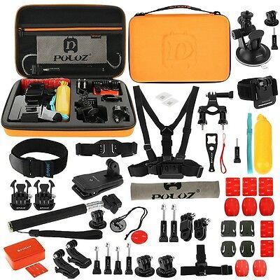 PULUZ 53 in 1 Accessories Total Ultimate Combo Kit For GoPro HERO5 4 3+ 3 2 1
