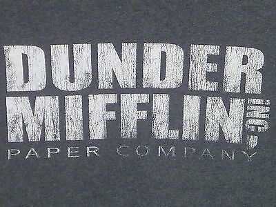 THE OFFICE Dunder- Mifflin Inc. Paper Company T-shirt S