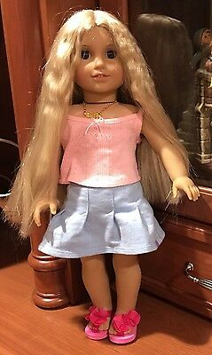 American Girl Julie Albright Doll With Necklace