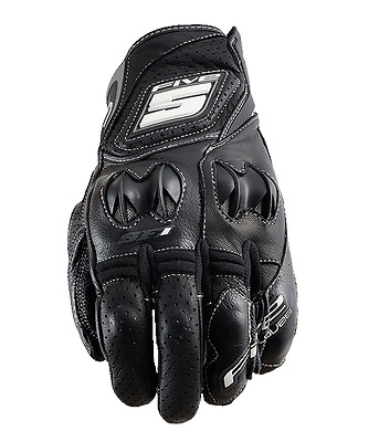 Five SF1 Vented Semi Perforated Leather Sport Summer Short Motorcycle Gloves