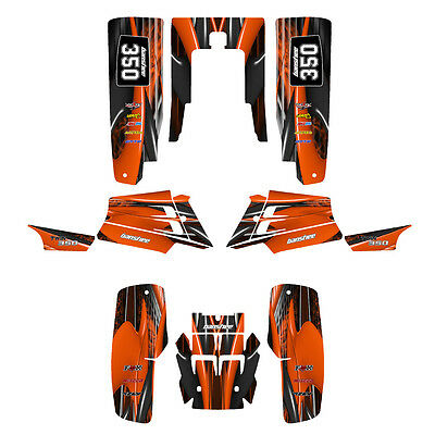 Yamaha Banshee 350 graphics full coverage custom deco kit #3333 Orange