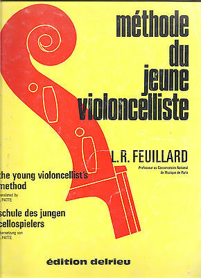 The Young Violoncellist's Method by L.R. Feuillard pbk CELLO playing MUSIC