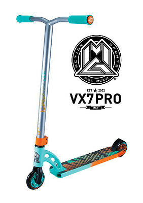 New 2017 Vx7 Madd Gear Mgp Pro Scooter Teal/orange - Free Delivery