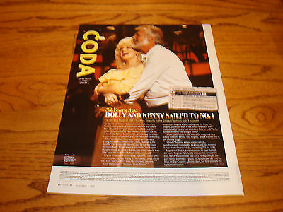 DOLLY PARTON, KENNY ROGERS 2016 article '33 Years Ago Dolly & Kenny Sailed To #1