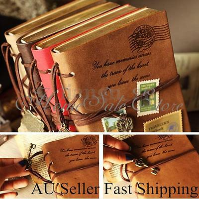 Retro Classic Vintage PU Leather String Key Notebook Diary Journal Sketchbook