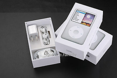 "For iPod Classic 7th Generation Silver 120GB ""Packaging Box Only"" Original NEW"
