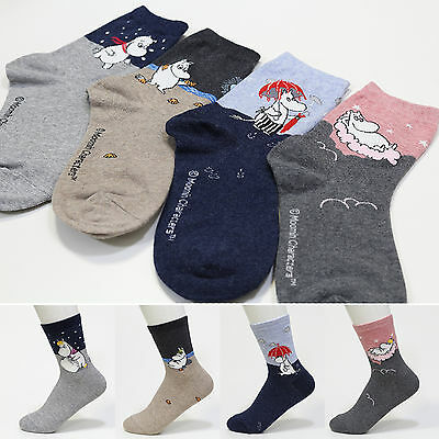 New 4 Pairs MOOMIN Character Socks Women Socks Cute Cartoon Socks MADE IN KOREA