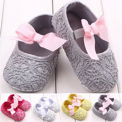 Toddler Newborn Baby Girl Soft Sole Crib Shoes Anti Slip Prewalker Pram Sneakers