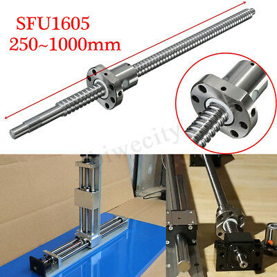 C7/SFU1605 Ball Screw L250/400/500/650/1000MM Ballnut w/ Single Ballnut For CNC