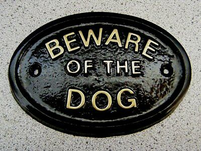 Beware Of The Dog Dogs - House Door Plaque Sign Gate Wall Pet New
