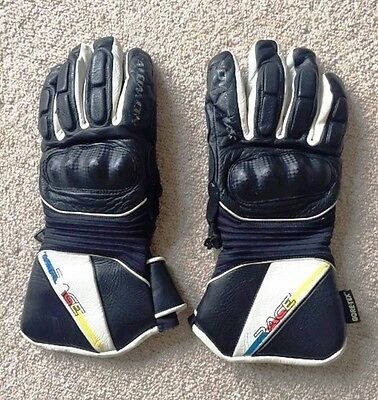 Salomon Mens Leather Gortex Race Ski Gloves / Mint Condition / With Protection