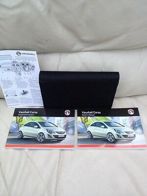 Vauxhall Corsa Owners Handbook Manual User Guide Book Wallet