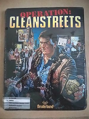 Operation Cleanstreets For Commodore Amiga, NEW / SEALED, Broderbund