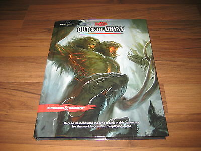D&D 5th Edition Out of the Abyss Hardcover Adventure WotC 2015 Neu New