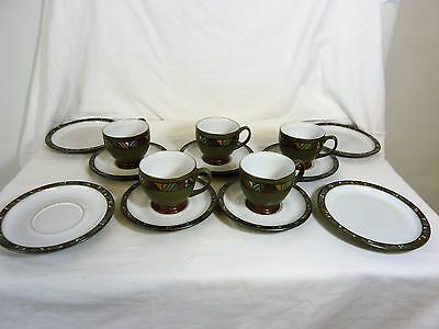 Denby Marrakesh, Cups, Saucers & Plates.  Good Condition                    #wo#