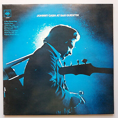 Johnny Cash - At San Quentin UK 1st Press Front Laminated 1969 A2/B1 EX+/EX+