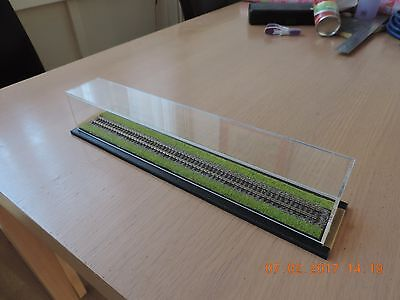 Acrylic Train case with track/Grass N guage