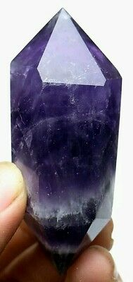 46.5g Beautiful Natural Amethyst Crystal Healing Double Point Wand