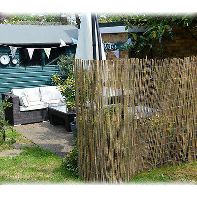 Bamboo Screen 1.5m x 4m Full Cane Decorative Garden Privacy Screening Fence