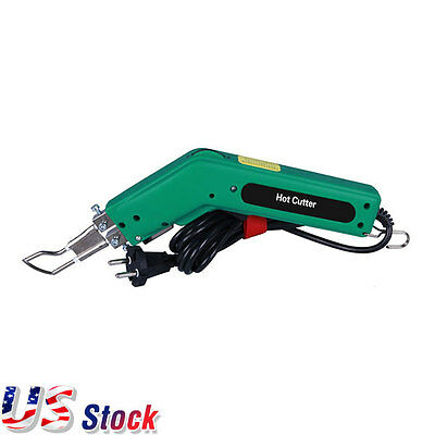 USA Stock - 110V Handheld Hot Heating Knife Cutter Tool for Fabric Rope Cutter