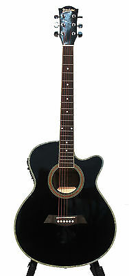 Acoustic Electric Guitar for beginners Black 40 inch iMusic226