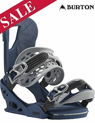 2017 Burton Cartel Reflex Snowboard Bindings UK 6-9 Medium Blue SAVE 22%
