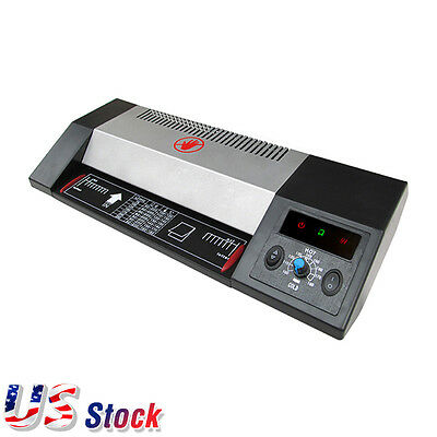 "USA Steel Thermal Laminator A3 A4 Hot / Cold 13"" Pouch Photo Laminating Machine"