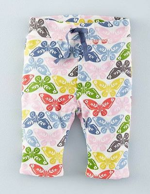 *NEW* Baby Boden Soft Reversible Trousers - Blue Stipe/Butterfly Age 6-12 Months
