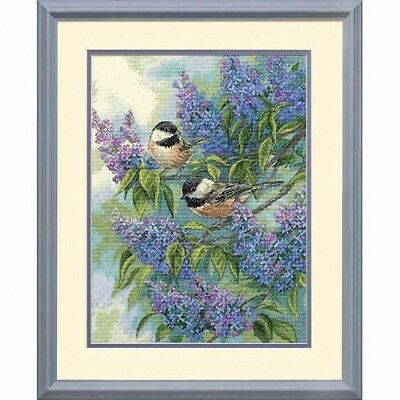 D35258 - Dimensions Counted X Stitch - Gold, Chickadees and Lilacs