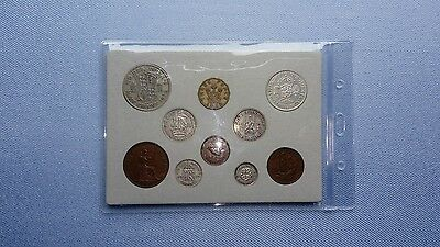 Vintage 1939,Coin Year Set In Display.(King George Vl,78TH Birthday Gift).����.