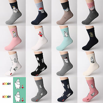 [Buy 5 + Free 1] Choice Socks! Moomin Character Socks Made In Korea All Licensed