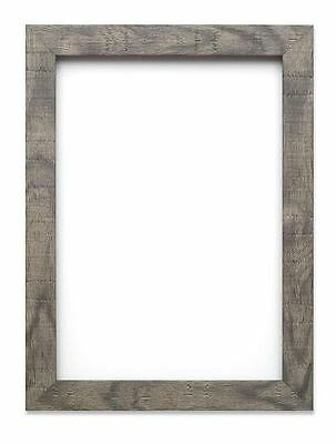 Shabby Chic Rustic/ Wood Grain Picture Frame Photo Frame Poster Frame Grey