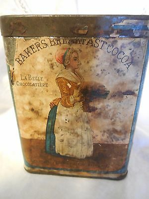 1910 Baker's Cocoa Tin w/lid