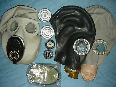 ☭3pcs.USSR,Russia military paratrooper rubber gas mask EO-19 PBF+GP-5+filter