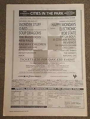 Cities in the Park Electronic 1991 press advert Full page 30 x 42cm mini poster