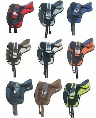 """All Purpose Synthetic Treeless 16"""" 17"""" 18"""" size Freemax Saddles 40% Discount"""