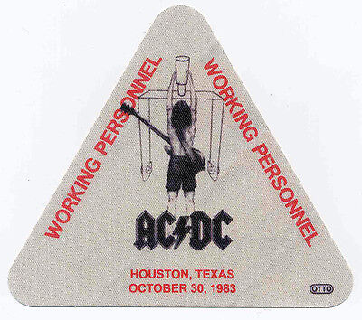 Ac/dc Repro 1983 Flick Of The Switch Tour Crew Backstage Pass Sticker