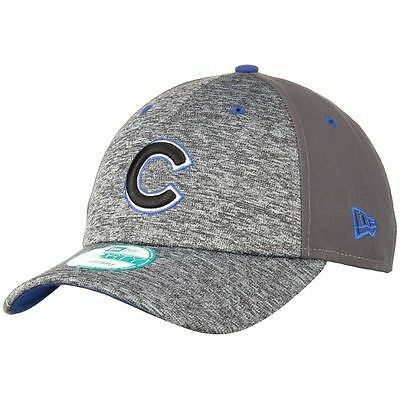 Chicago Cubs New Era 9Forty Shadow Adjustable Cap - Heather Grey/Graphite